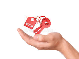 Download Holding House Keys Sold Concept Stock Photo