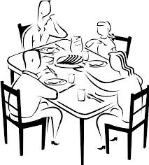 Clipart Free Library Dinner Table Drawing At Getdrawings Com