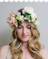 Flower Crown pink green and ivory floral crown garland wreath