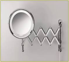 wall ideas mount magnifying mirror bronze 10x mounted makeup with