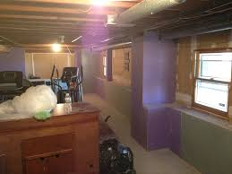Installing Drywall On Ceiling In Basement by Basement Finishing Remodel Insulation Framing U0026 Drywall In