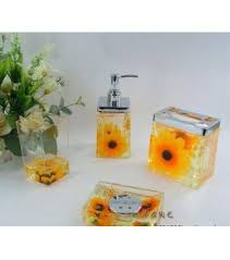 Sunflower Kitchen Decor Yellow Floral Bathroom Accessories This Sets With And