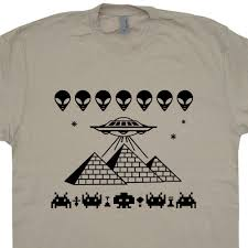 pyramids ufo t shirt aliens alien shirts egypt pyramids tshirt