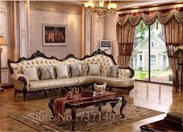 chaise liege sessel luxus barock wohnzimmer möbel l form sofa set holz und leder sofa high end sofa