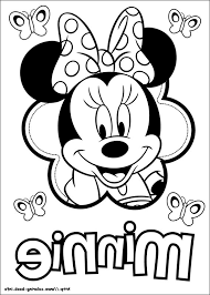 The Most Amazing Interesting Simple Minnie Mouse Coloring Pages
