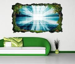 3d wandtattoo 3d effekt tür durchgang blau tunnel muster hintergrund energie selbstklebend wandbild wandsticker wohnzimmer wand aufkleber 11o110