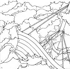 Free Printable Coloring Jesus Calms The Storm Page 27 With Additional Kids