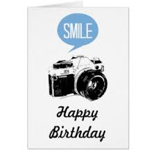 Vintage Camera Smile Text Balloon grapher Card