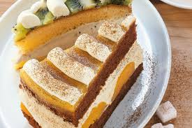 cappuccino pfirsich torte