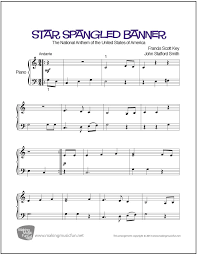 sinking piano easy spangled banner sheet for easy piano digital print