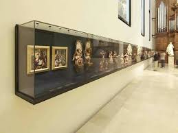 Wall Display Case Contemporary Mounted Metal Museum Wooden Cases For Collectibles