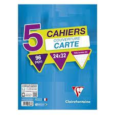 Clairefontaine Cahiers 24 X 32 Cm Petits Carreaux Lot De 5 Cahiers
