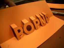 Pop Up 3D Words and Messages