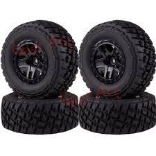 100 4x4 Truck Rims 4PCS Wheel Tyres Tires 106mm 118217A For Traxxas Slash