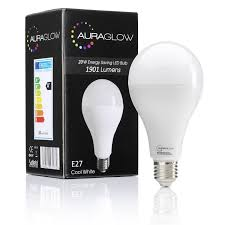 auraglow bright 20w led e27 light bulb cool white