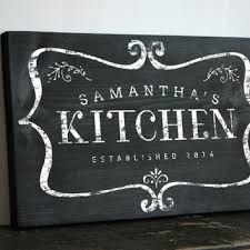 Custom Chalkboard Style Kitchen Sign Decor Art Wall