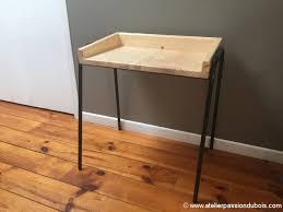 petit bureau en bois petit bureau bois metal décoration