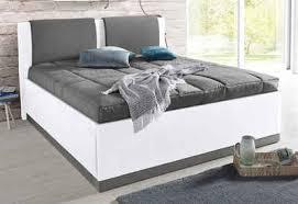 westfalia schlafkomfort polsterbett mit bettkasten und tagesdecke