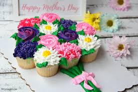 Mothers Day Cupcake Cake With Free Printable