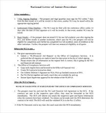 8 National Letter Intent Templates – Free Sample Example