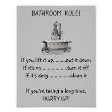 badezimmer regeln poster zazzle de