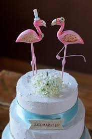 Pink Flamingos In Love Wedding Cake Topper Rustic As Seen Bride To Be Australia Magazine