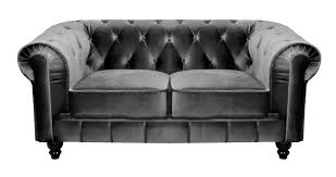canapé velours gris deco in canape 2 places velours gris chesterfield can