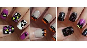 Quotes For Halloween Birthday by Halloween Nails Three Easy Designs Youtube