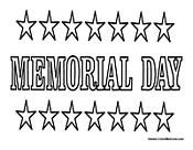 Memorial Day Coloring Activity