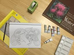 Tutorial Adult Coloring Book Pages To Painting On Any Watercolor Paper PART ONE