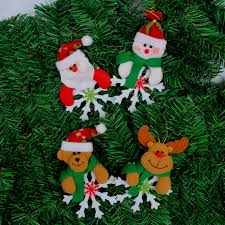 Cute Handmade Christmas Tree Decorations Charms Rope Pendants Dolls Birthday Festival Gift Home Window Party Drop