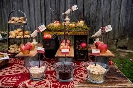 Fall Wedding Desserts Candy Apple Bar
