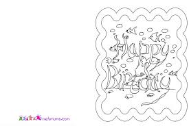 Coloring Pages Of Birthday Cards H M Card