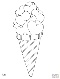 Coloring Pages Love Ice Cream Empty Cone Page Color Sheets