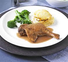 duck confit crock pot cooked duck legs in port with celeriac gratin recipe