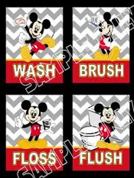 Mickey And Minnie Mouse Bath Decor by Mickey Mouse Bathroom Art