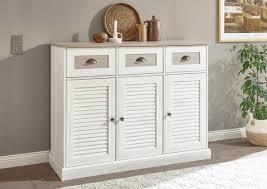 sideboard colorado 130cm pinie weiß eiche antik kommode wohnzimmer schrank