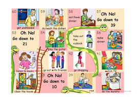 DAILY ROUTINE SNAKES AND LADDERS PART 2