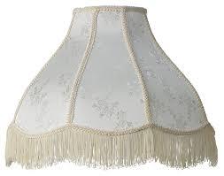 Swarovski Crystal Lamp Finials by Cream Scallop Dome Lamp Shade 6x17x12x11 Spider Lamp Shade