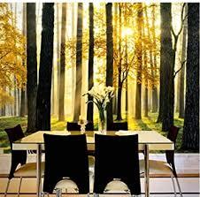 zjfong 3d wallpaper wald sonnenschein landschaft fototapete