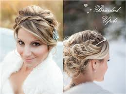 Braided Headband Updo For Winter And Wedding With Brown Straight Hair Extensions Clip On