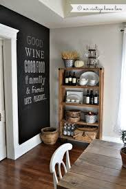 Chalkboard Wall Barnwood And Farmhouse Style Table Idea Of Some Kind Chalk Board In Dining Room