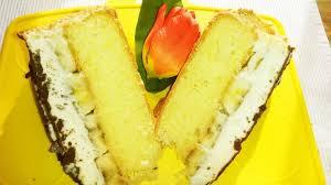 bananen pudding torte