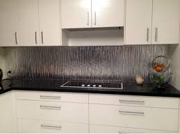 Reflective Glass Splashback With Textured Pattern