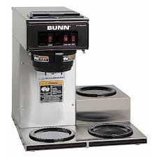 BUNN 133000003 VP17 3SS3L Pourover Commercial Coffee Brewer With 3 Lower Warmers Stainless Steel