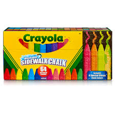 100 Chalks Truck Parts Crayola Washable Sidewalk Chalk In Assorted Colors 64 Count