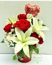 Bucket Of Love 4200 Quick View Modern Roses Flower Arrangement