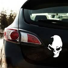 1 Pcs Hot Sale Black Cool Skull Ghost Rear Side Door Reflective Car ...
