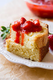 Brown Butter Pound Cake with Strawberry pote Sallys Baking