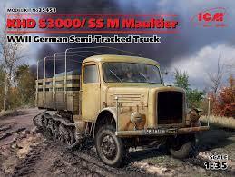 100 Model Semi Truck Kits KHD S3000SS M Maultier WWII German Tracked ICM